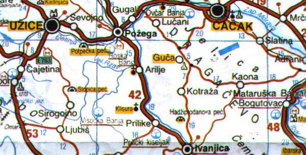 karta srbije arilje dr karta srbije arilje